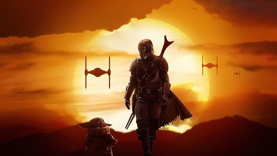 The Mandalorian and Baby Yoda, 4K, #7.2783