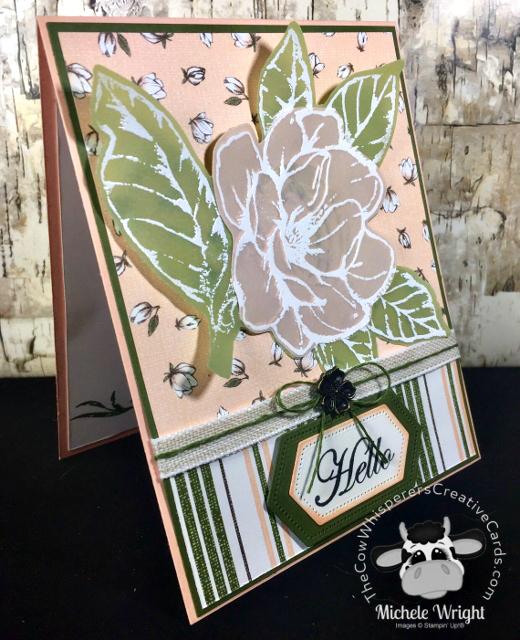 Card, Perennial Essence Vellum, Good Morning Magnolia, Magnolia Memory Dies