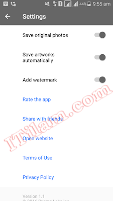 How to turn off the watermark in your Prisma photos