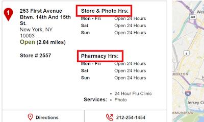CVS Pharmacy Hours of Operations