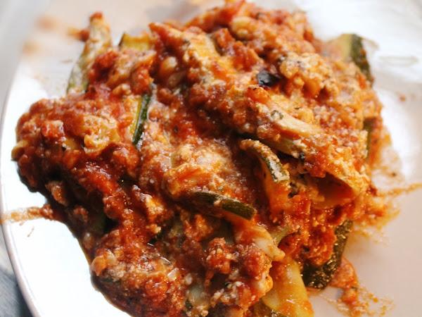 Zucchini Season Strikes Again! (Low Carb Sour Cream Zucchini Lasagna)
