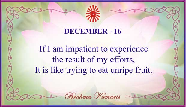 Thought For The Day December 16