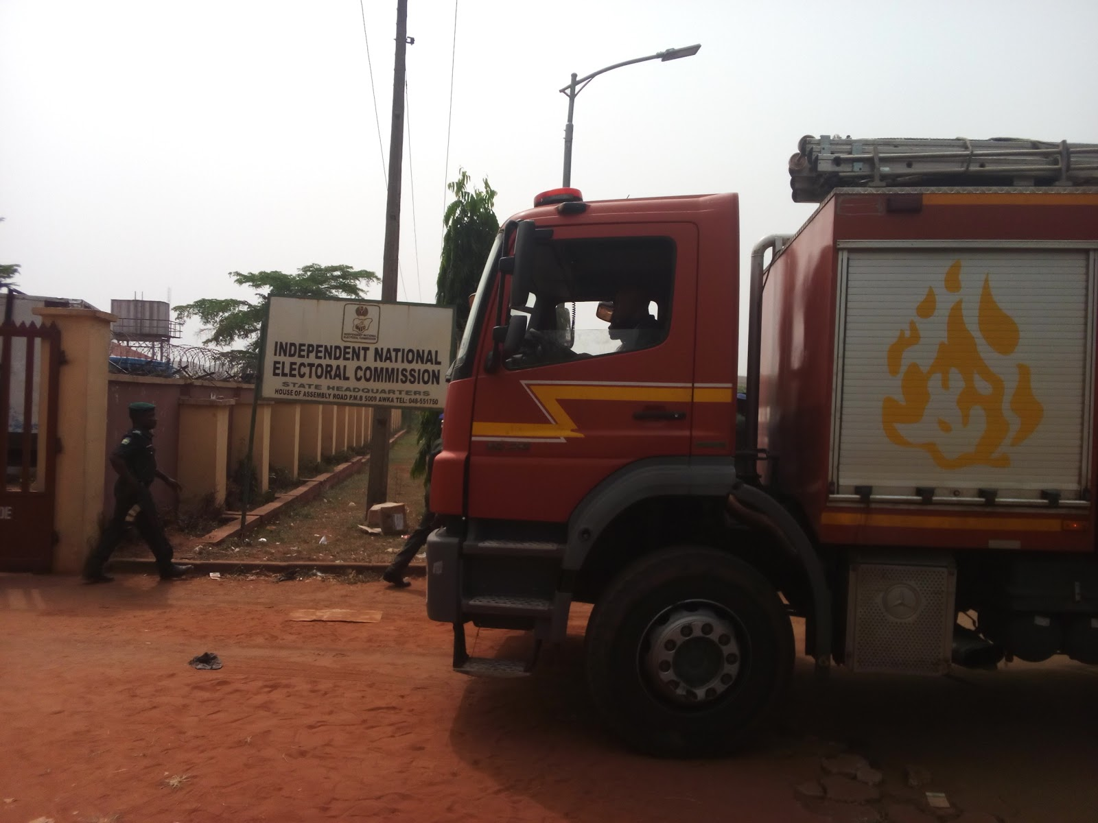 Mysterious fire guts 2 containers of INEC card readers in Anambra state