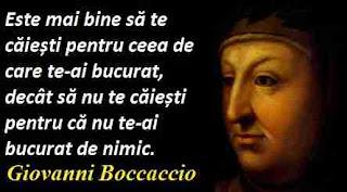 Maxima zilei: 16 iunie - Giovanni Boccaccio