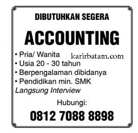 Lowongan Kerja Accounting Lulusan SMK