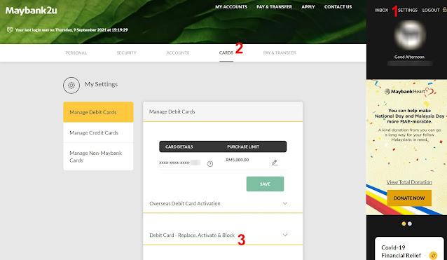 Cara Tukar Kad ATM Maybank Secara Online
