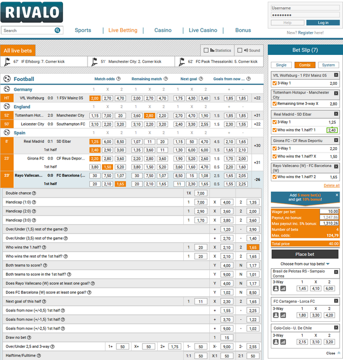 Rivalo Screen