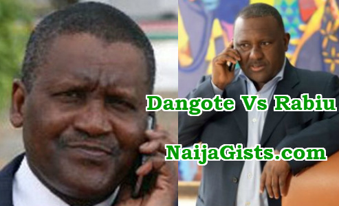 dangote rabiu fight limestone