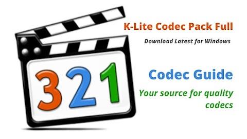 K-Lite Codec Pack Full Download Latest for Windows