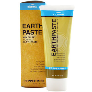 معجون الاسنان بالنعناع من اي هيرب Redmond Trading Company, Earthpaste, Amazingly Natural Toothpaste, Peppermint, 4 oz (113 g)