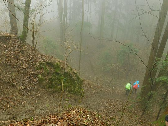 Pozostałości ruin zamku książąt oświęcimskich na górze Żar.