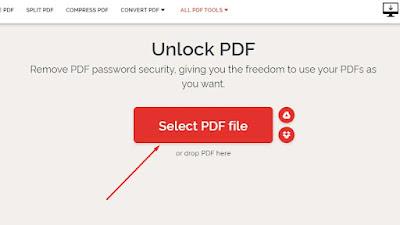 Seleksi file PDF terpassword