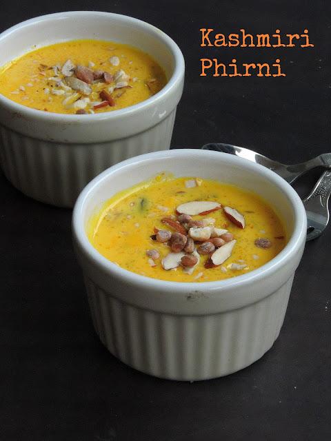 Kashmiri Phirni, Saffron Phirni