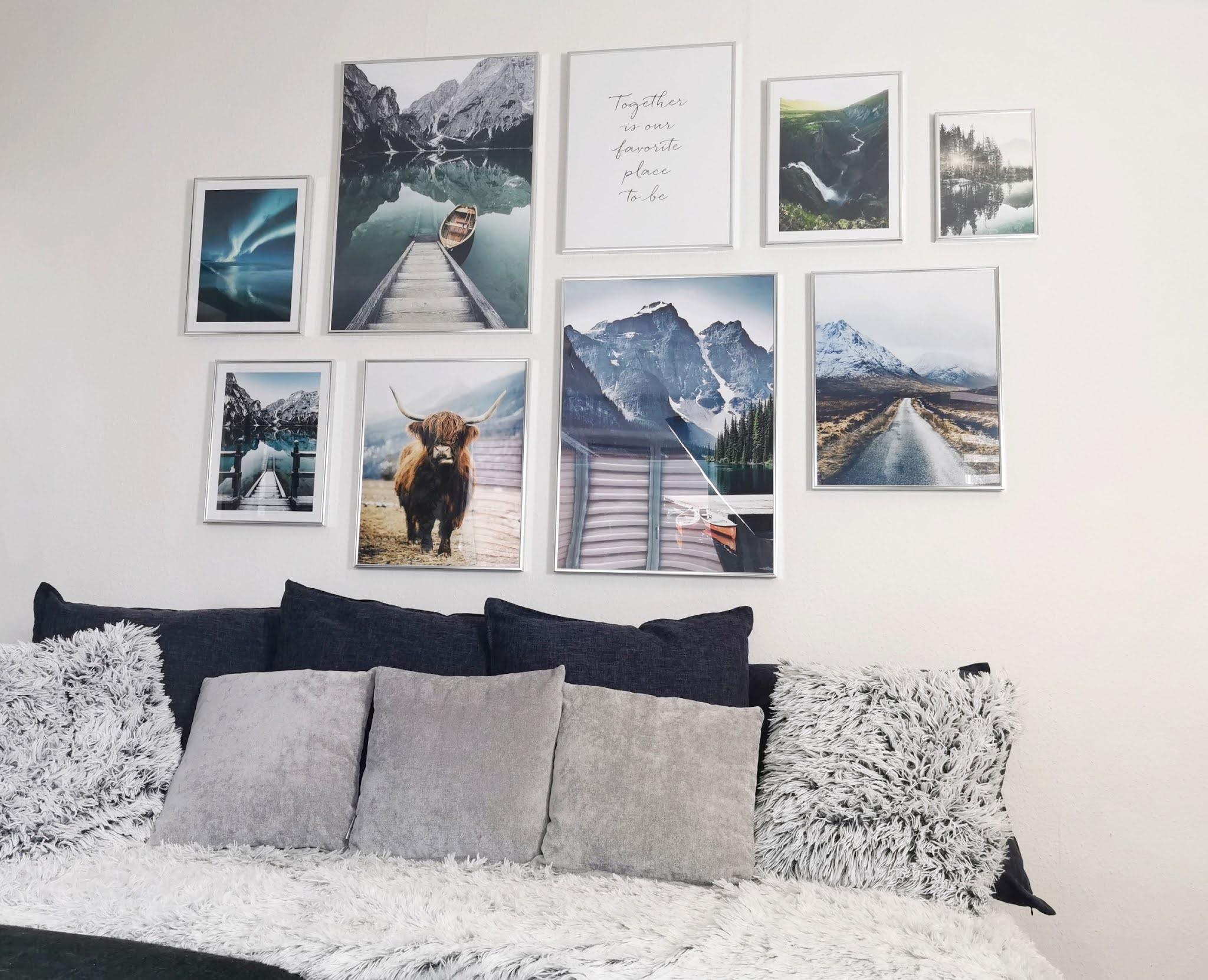 living,skandinavische bilderwand,wanddeko,posterstore.de,erfahrung,poster store,inspiration,rahmen,kunstdrucke,bilder,wandgestaltung,bilderrahmen,wandbilder,poster,