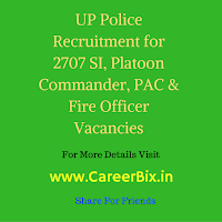 UP Police Recruitment for 2707 SI, Platoon Commander, PAC & Fire Officer Vacancies