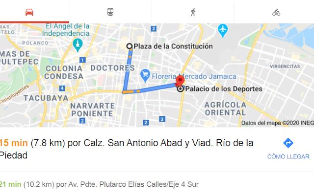Como llegar al Palacio de los Deporte Mexico Capufe.info