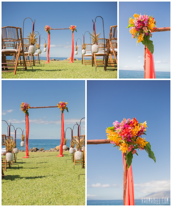 Tropical Maui wedding venue
