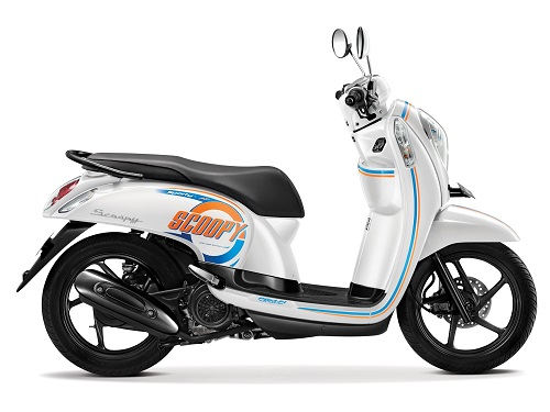 Honda Scoopy warna Capital White