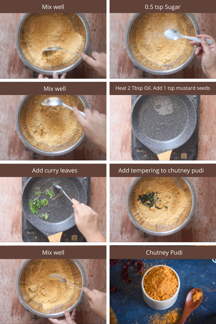 chutney pudi recipe steps