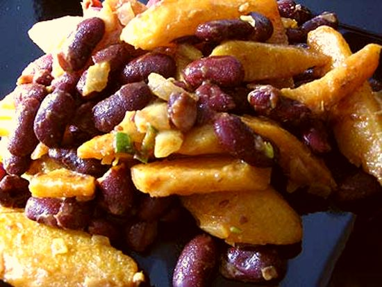 Red Kidney Beans with Turnip