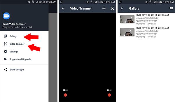 ميزة قص الفيديو وميزة الاستوديو