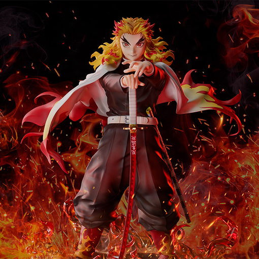 Rengoku Kyojuro 1/8 de Demon Slayer: Kimetsu no Yaiba the Movie: Mugen Train, ANIPLEX+