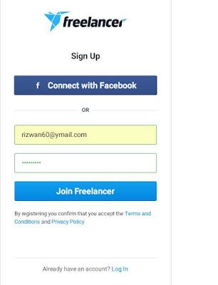 Freelancer signup