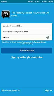 Cara Buat Email BBM