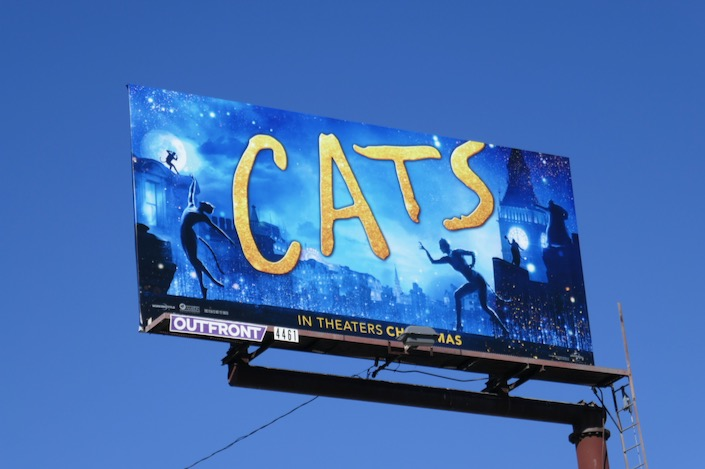 Cats film billboard