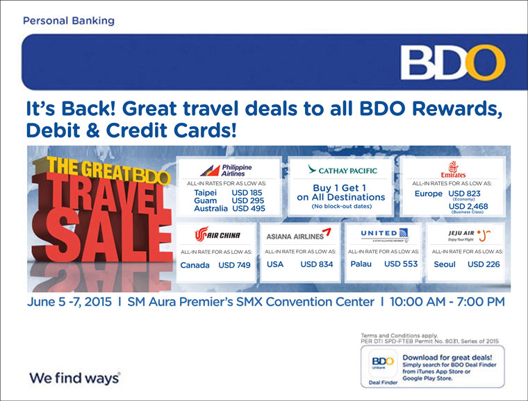 Manila Life: The Great BDO Travel Sale is on today! Book