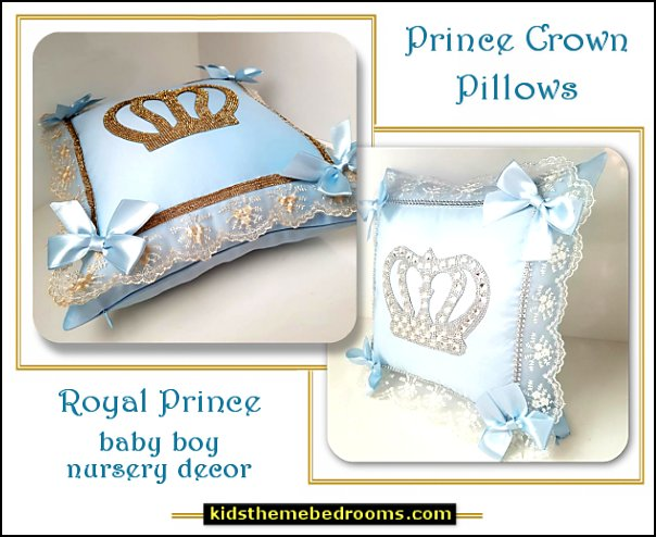prince crown pillows Medieval Knights & Dragons decorating ideas - knights castle decor - knights and dragons theme rooms - dragon theme decor - prince decor - medieval castle wall murals - knights and dragons baby bedding - Knights Medieval bedding - dragon bedding - dragon murals - dragon themed bedroom ideas - medieval castle furniture - Prince Crown Royal Theme Princess decor