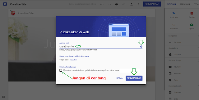 Cara buat website gratis di google sites - gambar 3