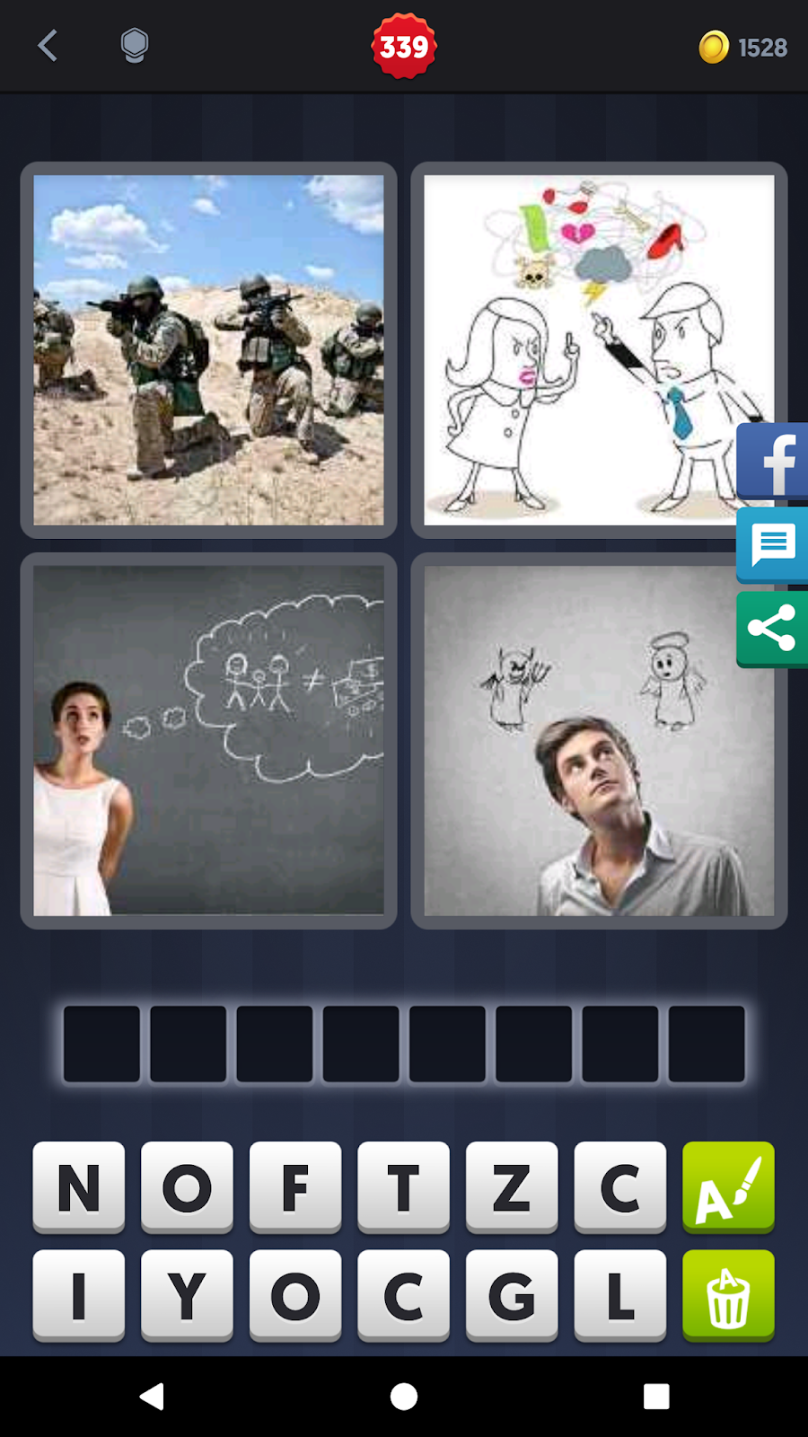 4 Pics 1 Word Answers Solutions Level 339 Conflict