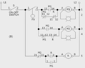 Motor Control Operation and Circuits: Alternate Operation of Two Motor Pumps | Pump Control Schematic |  | Motor Control Operation and Circuits - blogger