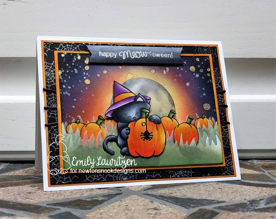 Happy Meow-oween by Emily features Newton's Perfect Pumpkin by Newton's Nook Designs; #newtonsnook
