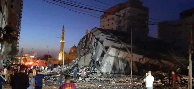 Gaza, palazzo di 12 piani crolla dopo un raid israeliano