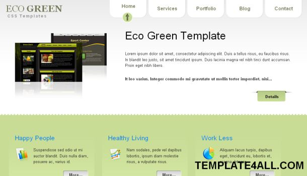 Jquery Portfolio Green Website Template