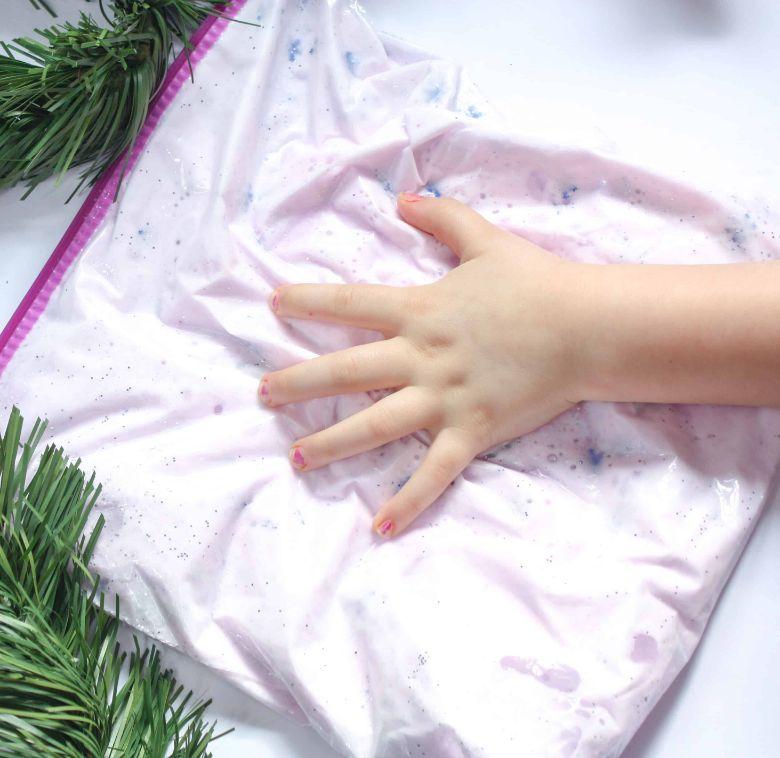frozen winter sensory bag winter activity for toddlers and preschoolers