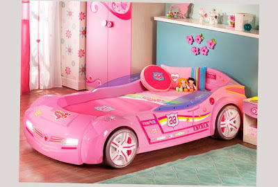 Really Cool Bunk Beds For Girls Pink Car Design With Beautiful Color Curtain Unique Design