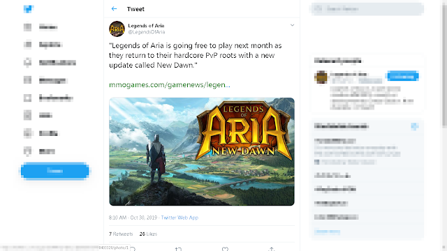 Legends of Aria is going free to play next month as they return to their hardcore PvP roots with a new update called New Dawn.