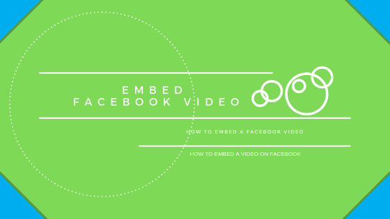 How To Post Embedded Video On Facebook<br/>