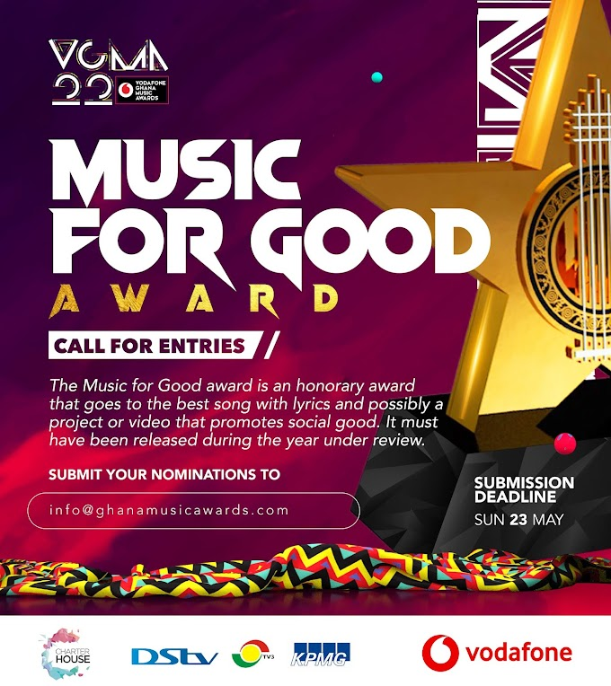 Vgma call for entries - Music for Good Category