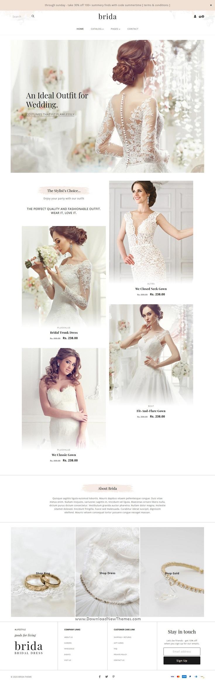 Wedding Fashion & Bridal Shop Shopify Theme
