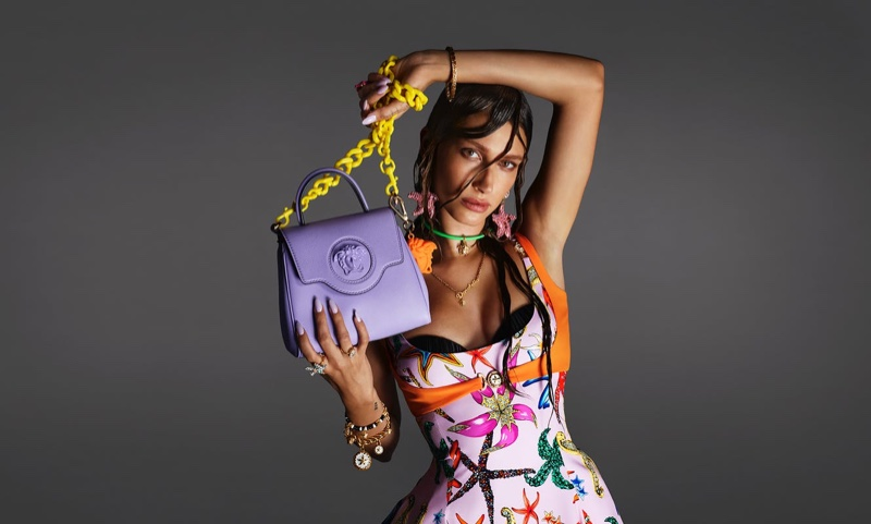 Hailey Baldwin stars in Versace spring-summer 2021 campaign.