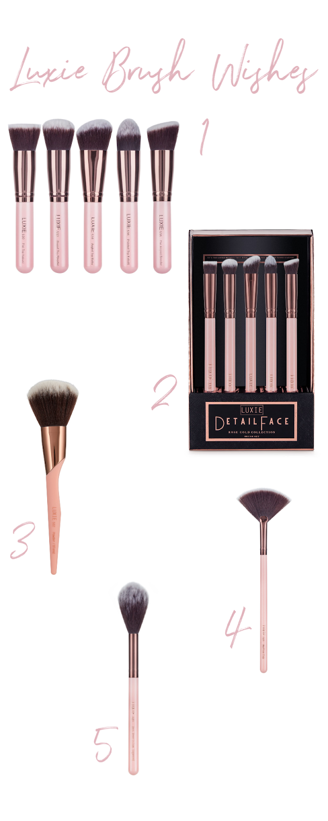 New Luxie Beauty Makeup Brushes for Home and Travel | And a Giveaway! Luxie Brush Wishes