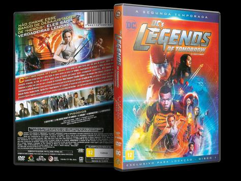 Capa DVD DC's Legends of Tomorrow - Segunda Temporada - Disco 1 (Oficial)