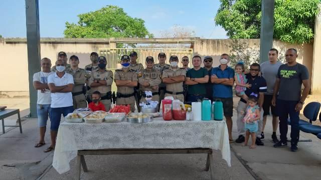 Sargento Flávio da 3ª Cia em Bela Vista completa 30 anos de serviço e recebe homenagens dos colegas