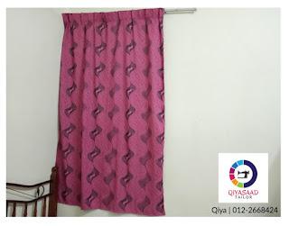 Langsir tingkap, window curtain, jahit, qiyasaad tailor, tukang jahit, tempah langsir raya, langsir murah cantik,