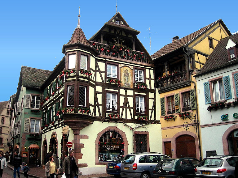 Kayserberg, na Alsácia, França.