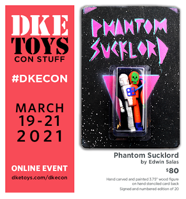 DKECON 2021 Exclusive Phantom Sucklord Wood Figure by Edwin Salas x DKE Toys
